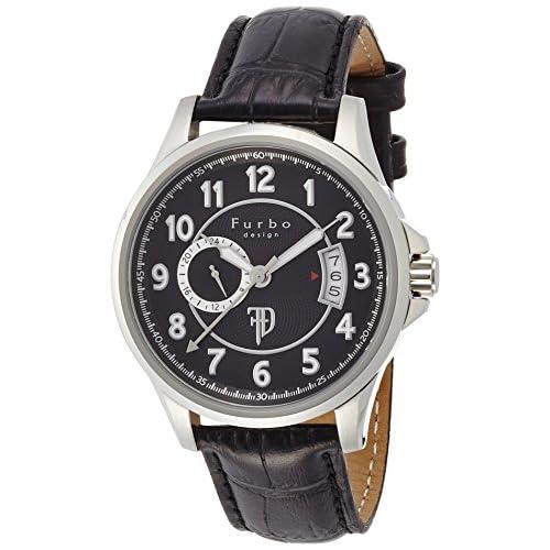 [フルボデザイン]Furbo design 腕時計 自動巻き F9013 ブラック文字盤 ステンレススチール 靴磨きギフトセット付き F9013BKセット メンズ