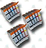 15 Chipped Compatible Canon PGI-5 & CLI-8 Ink Cartridges for the Canon Pixma MP600 Printer
