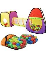 Tenda giochi bambini con tunnel + 200 Palle + Borsa di custodia