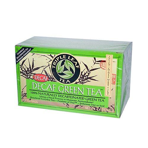 Triple Leaf Tea Decaffeinated Green Tea Bags