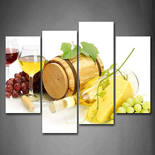 First Wall Art - Various Grape Wine With Cheese Wall Art Painting The Picture Print On Canvas Food Pictures For Home Decor Decoration Gift (Cheese Wall Art compare prices)