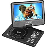 "Koolertron 9.5"" LCD TFT Portable DVD Player Multi Region With 180° Rotating Swivel & Flip MP3 WMA MPG AVI VOB JPEG USB Games FM Radio SD Card - Great Christmas Birthday Gift for Families and Friends"
