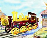 Puzzled Colorful Wood Craft Construction Rolling Locomotive 3D Jigsaw Puzzle by Getting Fit