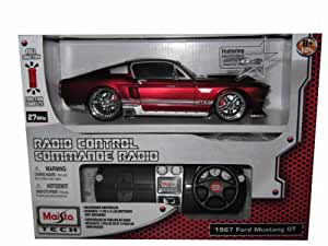 Remote Control 1967 Ford Mustang GT RC Car 1:24 Red