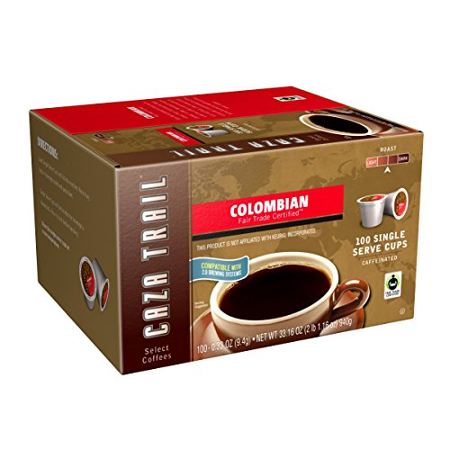 Caza Trail Coffee, Colombian, 100 Single Serve Cups (Colombian K Cups compare prices)