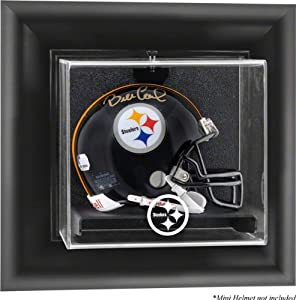Mounted Memories Pittsburgh Steelers Wall Mounted Mini Helmet Display Case by Mounted Memories