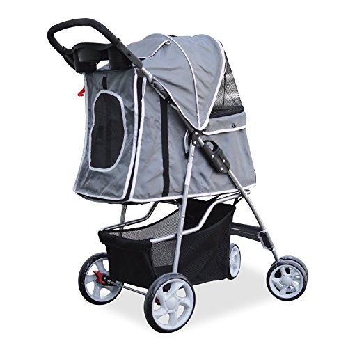 PetsN'all Foldable Pet Stroller – Gray