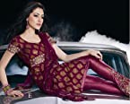 Designer Shimmer Net with Jari Work Unstitched Salwar Kameez - 15004E