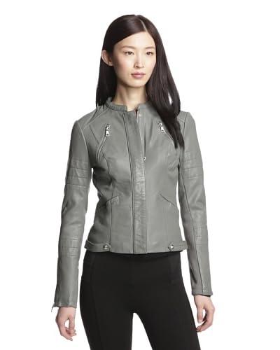 Sam Edelman Women's Leather Zip Jacket