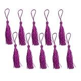 HAND ® Silky Quasten Lila 12cm lang für Craft Schmuck