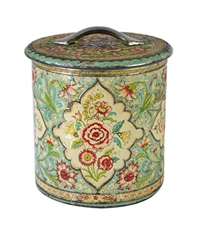 Patina Vie Vintage Fanciful Tin with Handle, Multi