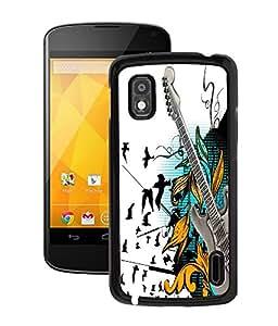 Fuson 2D Printed Guitar Designer Back Case Cover for LG Google Nexus 4 - D849