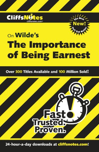 CliffsNotes on Wilde's The Importance of Being Earnest (Reference (General))
