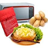 JL Future Potato Express Microwave Potato Bag Microwave Potato Cooker Red
