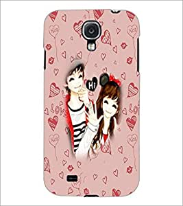 PrintDhaba Couple D-3200 Back Case Cover for SAMSUNG GALAXY S4 (Multi-Coloured)