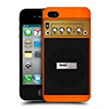 Head Case Designs Orange Chorus Guitar Amp Protective Snap on Hard Back Case Cover for Apple iPhone 4 4S