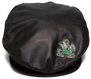 New! University of Notre Dame Leather Beret Style Hat -Paper Boy/Cabbie/Captain Cap - One Size