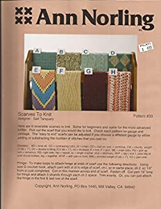 Amazon.com: Scarves to Knit - Ann Norling Knitting Pattern #33 - Pattern Only...