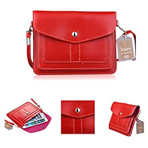 Bosam Hot Summer Popular Universal Cute Stylish Cross-body Large Cell Phone Case Girls Purse Cell Phone Case Cove Soft PU Leather Mobile Pouch Snap Button Shoulder Bag Phone Bag Key Bag with Detachable Strap for Apple iPhone