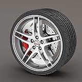 Chevrolet Aveo Silber/Grau Rimblades Leichtmetallrad Edge Ring Anfahrschutz Reifen Tire Guard Rubber Zierleiste
