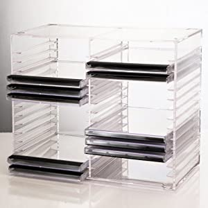 Clear Stackable CD Holder - holds 30 standard CD jewel cases