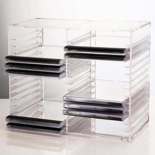 Us Acrylic® Clear Stackable Cd Holder - Holds 30 Standard Cd Jewel Cases
