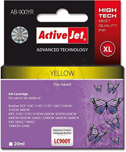 ActiveJet EXPACJABR0016 Tinte AB-900YR Refill für Brother LC900Y, gelb