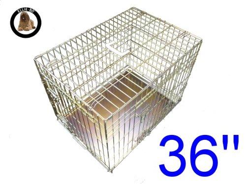 Artikelbild: Ellie-Bo Käfig für Welpen/Hunde, Metallplatte mit Kauschutz, GrößeL, 91,4cm, goldfarben