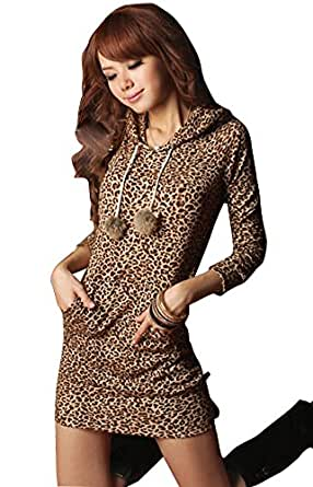 Molly Women Charming Sweet Sweater Hoodie Hooded Sweatshirt Mini Dress