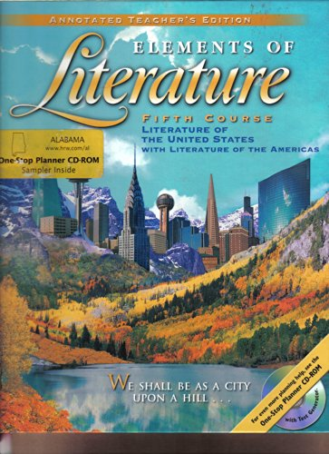 Elements of Literature Fifth Course Literature of the United States, Annotated Teacher's Edition, by Daniel