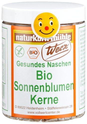 Werz Bio-Sonnenblumenkerne glutenfrei, 1er Pack (1 x 175 g Dose) - Bio