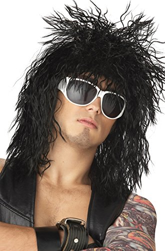 California Costumes Rocking Dude Wig, Black, One