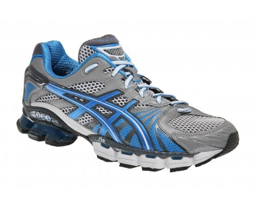 ASICS Gel Kinsei 3 Men's Running Shoes, Silver/Black/Blue, UK8