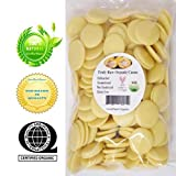 QAI Certified Organic Edible Raw Cocoa Butter Wafers 9 LBS (Non Deodorized & Unbleached)