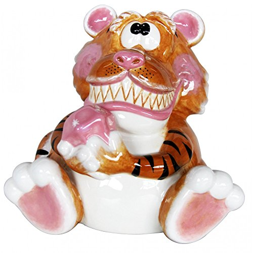 Tiger with Pink Diamond Ceramic Bank