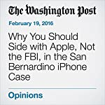Why You Should Side with Apple, Not the FBI, in the San Bernardino iPhone Case | Bruce Schneier
