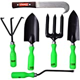 Visko GTK Garden Tool Kit (Black And Green, 6-Pieces)