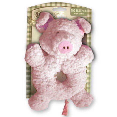 AKC Pig Teether Puppy Toy