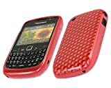 ITALKonline ProGel DIAMOND HEX PATTERN SOLID RED Super Hydro Gel Protective Armour/Case/Skin/Cover/Shell for BlackBerry 8520 Curve, 9300 3G