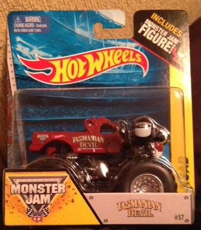 Monster Jam TASMANIAN DEVIL #57 includes monster jam figure hot wheels off-road