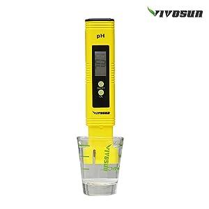 VIVOSUN PH Meter Digital PH Tester Pen for Water (Color: yellow)
