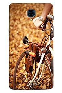 Ómnam Bicyle With Horn Printed Designer Back Cover Case For OnePlus Three