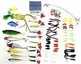 【オルルド釣具】ルアー ワーム色々100個セット バスフィッシィング 釣具セット (長方形, 21×11×4cm)Bセット 多彩なパターンで シーバス・ヒラメ・マゴチ・タチウオ・サゴシ・ハマチ・アカメ・ブラックバス・ライギョ・ナマズなどに ルアー釣り初心者におすすめ! qb100062a02n0