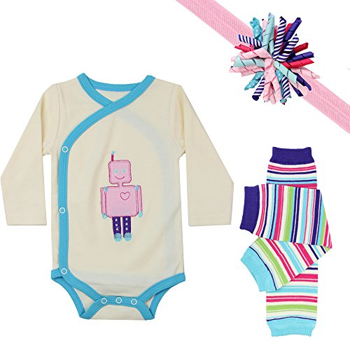 juDanzy baby girls gift box outfit set (0-3 Months, Rebekah Robot) (Infant Robot Clothes compare prices)