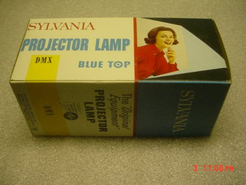 Sylvania DMX Lamp Bulb For Projection Equipment 500 Watts 120 Volt 50 Hours. Large 6 Inch. by Projector Lamp for 8 MM or !6 MM Projectors or other vintage photo equipment.