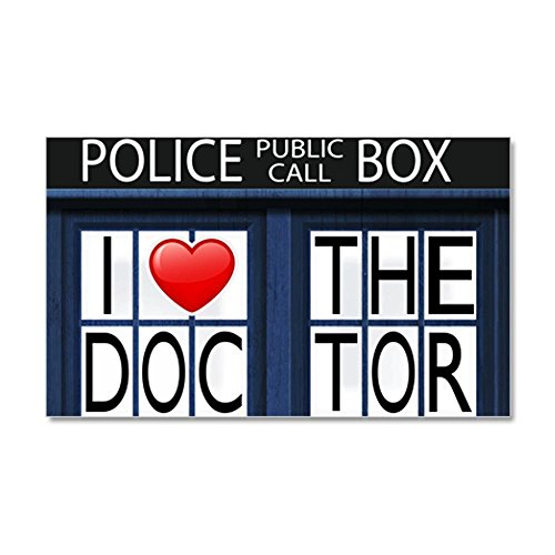 35 x 21 Wall Vinyl Sticker Police Call Box I Love Doctor Who from Royal Lion