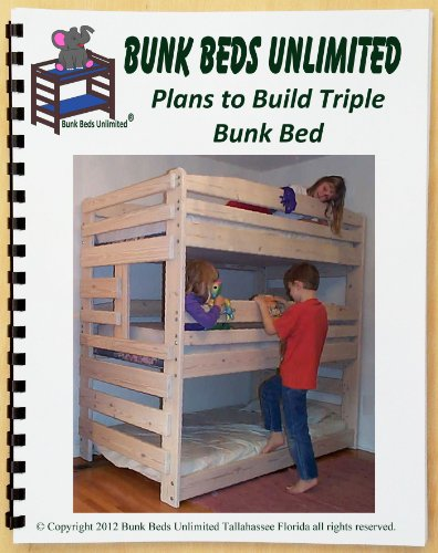 Triple Bunk Bed Woodworking Plan (Not A Bed) To Build Your Own That Sleeps Three