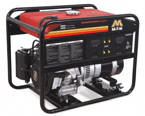 Mi-T-M Gen-5000-0Mk0 Portable Generator With 270Cc Kohler Ohv Engine, 5000W , Red/Black