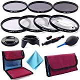 XCSOURCE 67MM Close-Up Macro Filter Set (+1 +2 +4 +10) + ND Neutral Density Filter Set (ND2 ND4 ND8) with Pouch + Lens Cap + Lens Hood + Lens Cleaning Kit + Microfiber Lens Cleaning Cloth For Canon Nikon DSLR Camera LF455