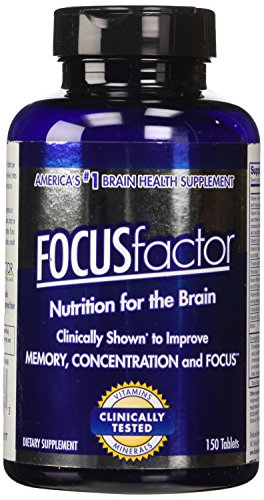 FOCUSfactor Dietary Supplement 150 Tablets, America's #1 Selling Brain Supplement, Supports and Maintains Memory, Concentration, and Focus.